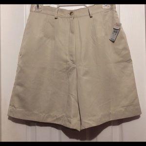 NWT- Talbots Khaki Shorts 8P